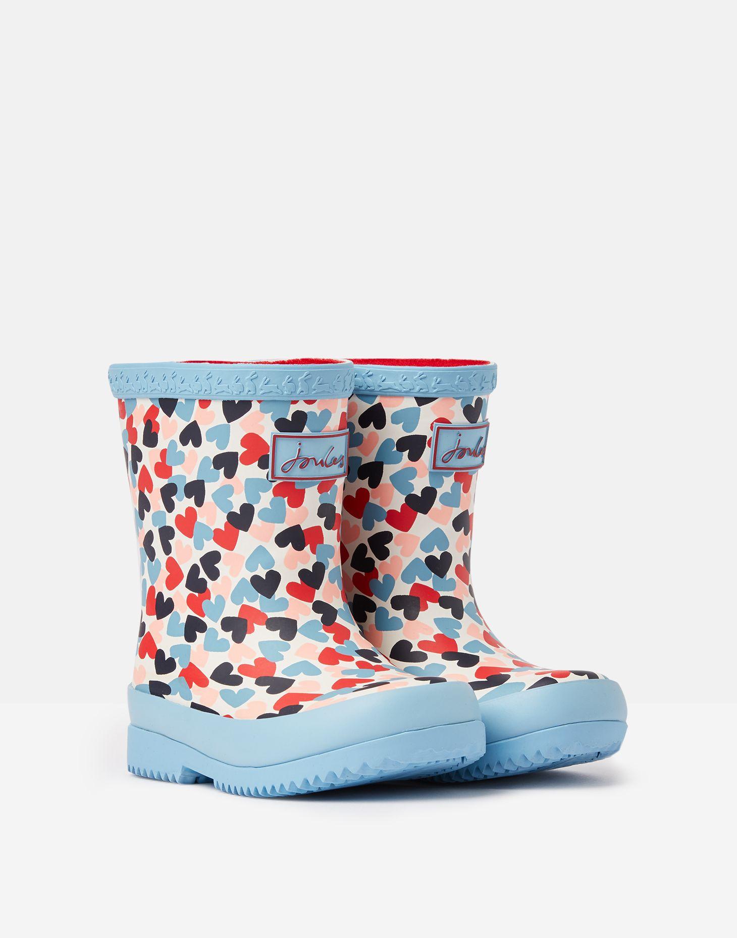 Joules Baby Girls Welly Print Rain Boot