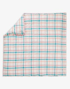 Joules UK Cottage Garden Check Homeware Duvet Cover GREEN PEACH CHECK