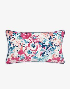 Joules UK Cottage Garden Border Stripe Floral Homeware Cushion PINK FLORAL