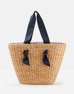 Joules UK Albury Woven Straw Womens Large Shopper NATURAL