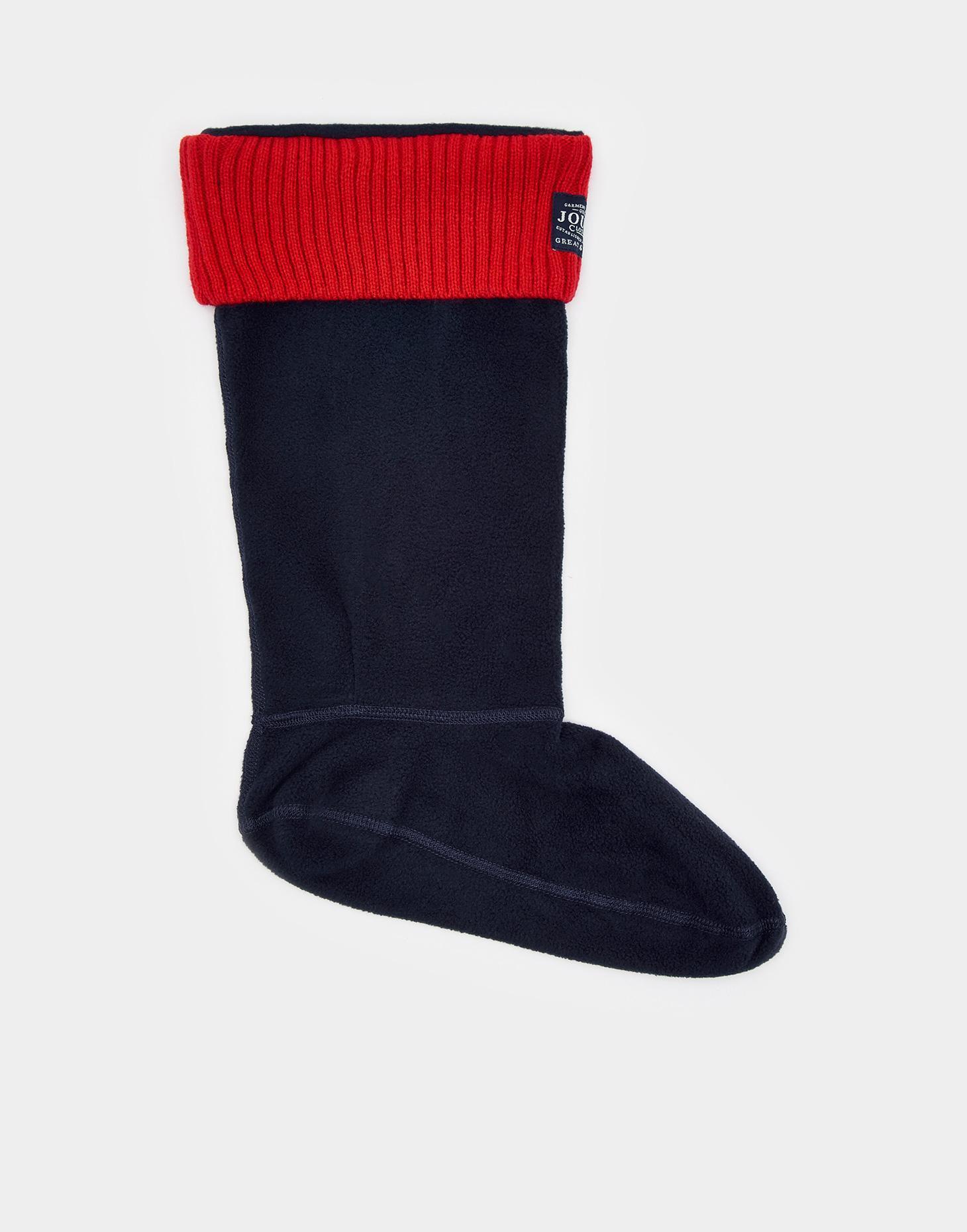 Womens Thermal Fleece Welly Wellington Boot Warm Cosy Soft Wellie Socks