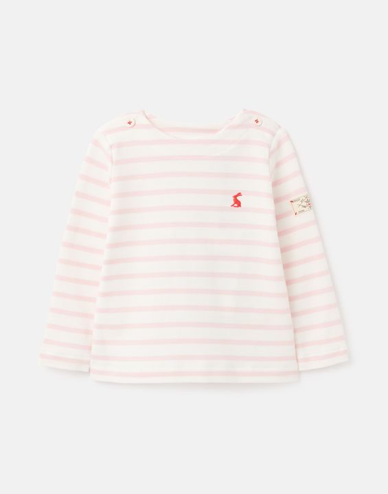 Harbour Stripe Organically Grown Cotton Jersey Top 0-24 Months