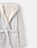 Ida Grey Star Jersey Dressing Gown With Fluffy Inner Joules Uk