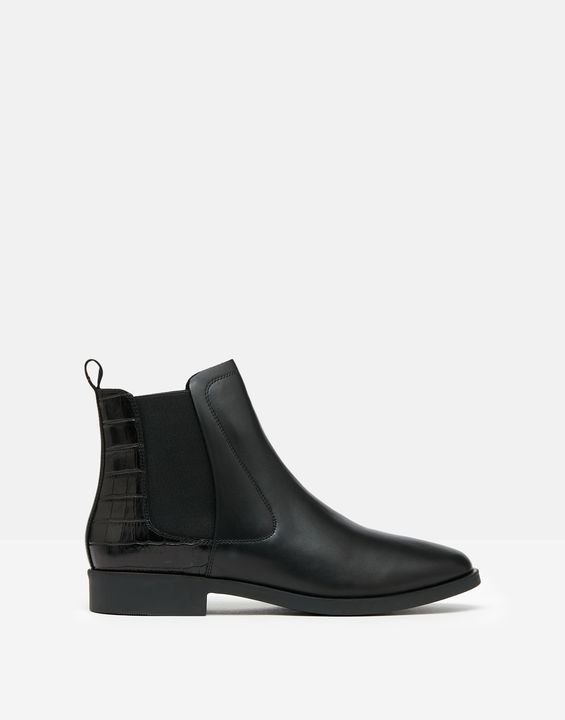 Joules Womens Chelmsford Chelsea Boots - Black Croc