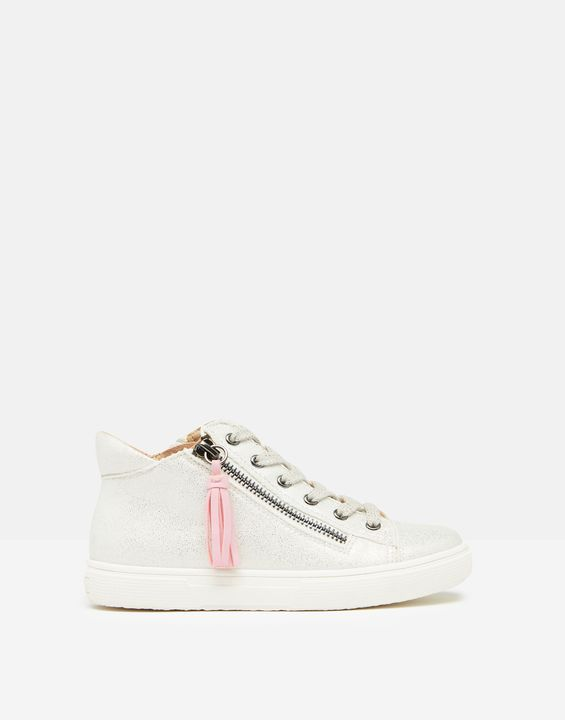 Joules Girls 209860 High Top Trainers French Navy