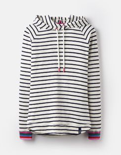 Joules UK Marlston Womens Hooded Sweatshirt CREAM NAVY STRIPE