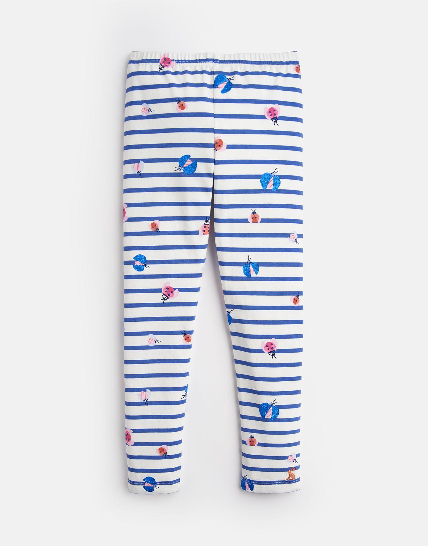 Joules Girls Deedee Jersey Printed Leggings Yr in NAVY UNICORN