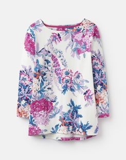 Joules US Harbour Womens Printed Jersey Top CREAM FLORAL