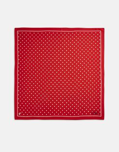 Joules UK Tiewell Womens Embroidered Neckerchief RED TEXT