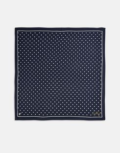 Joules UK Tiewell Womens Embroidered Neckerchief NAVY TEXT