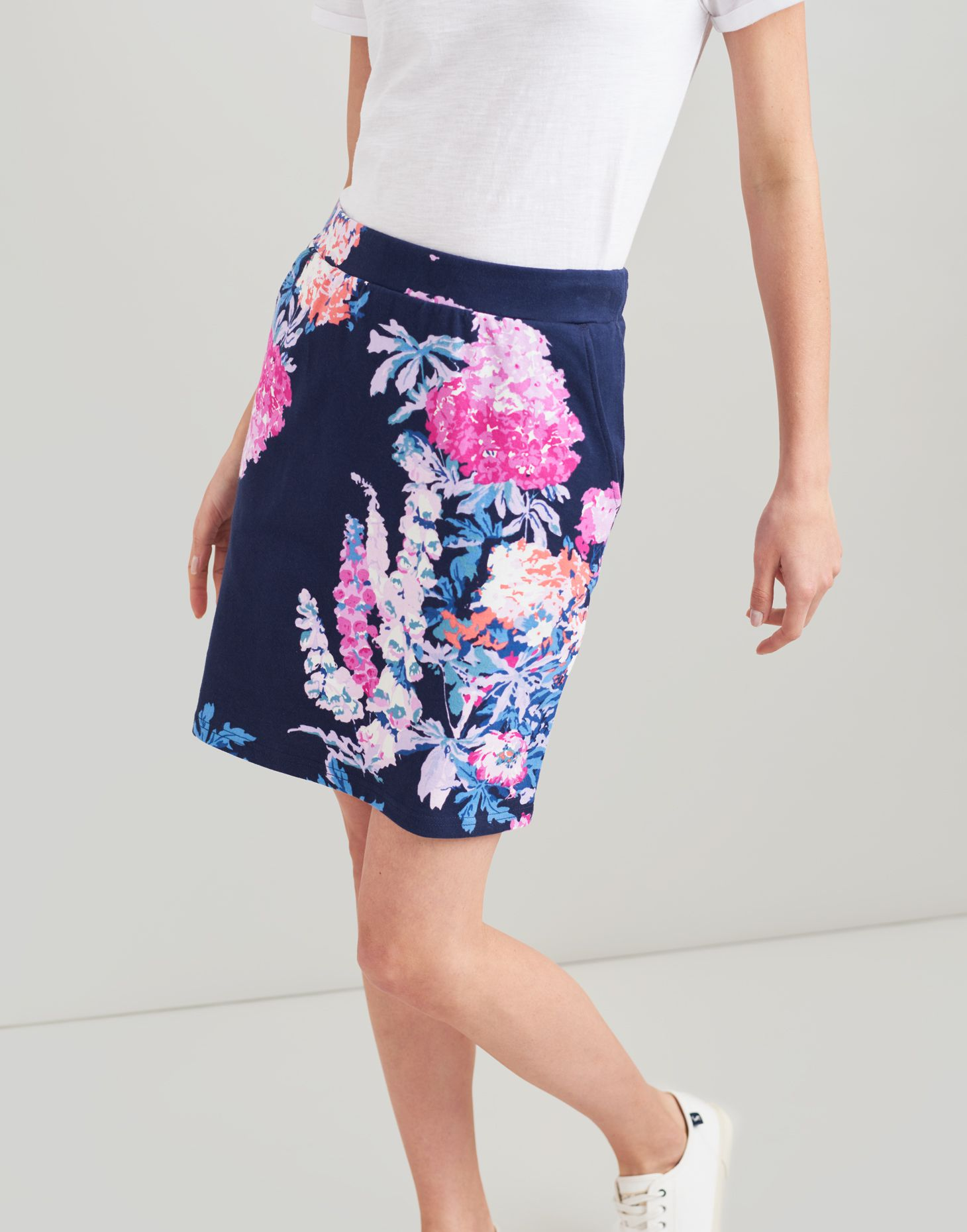 8147ca8287 Portia print NAVY FLORAL Jersey Skirt | Joules US