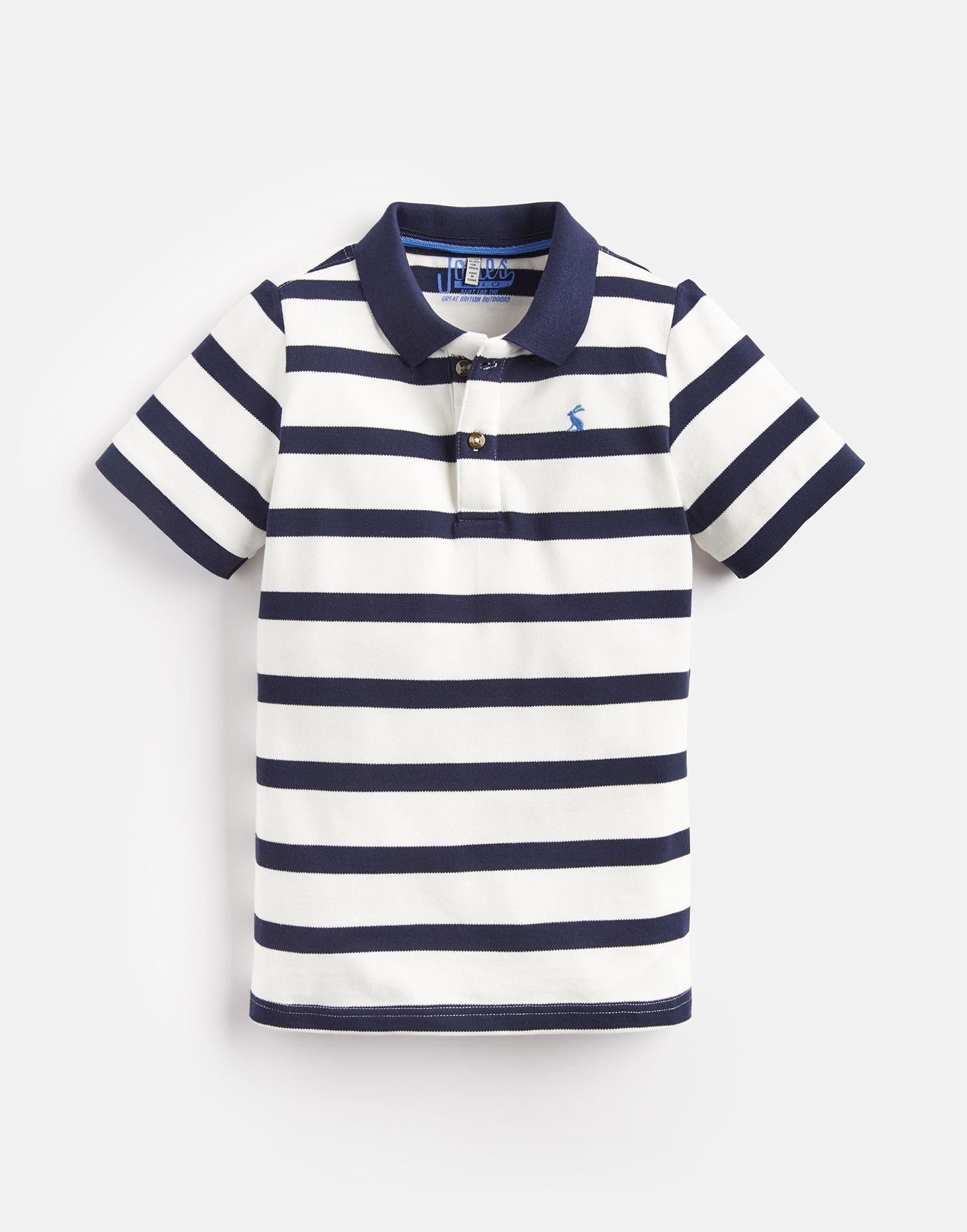 1f52daa7c Filbert CREAM NAVY STRIPE Boys Stripe Polo Shirt 3-12 Yr | Joules UK