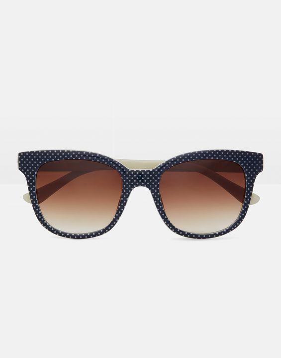 7abd9d6381 TRESCO BLACK and CREME POLKA DOT Sunglasses