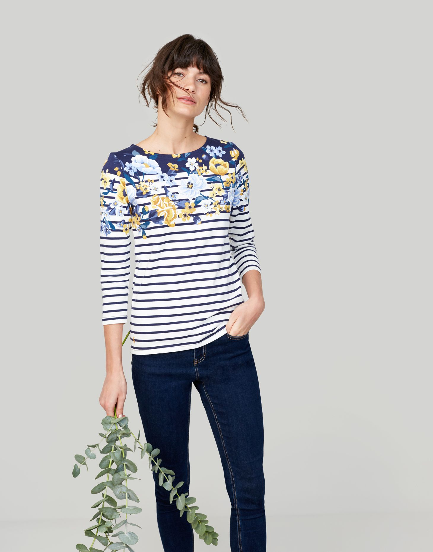 Joules Harbour Top Ruby Stripe