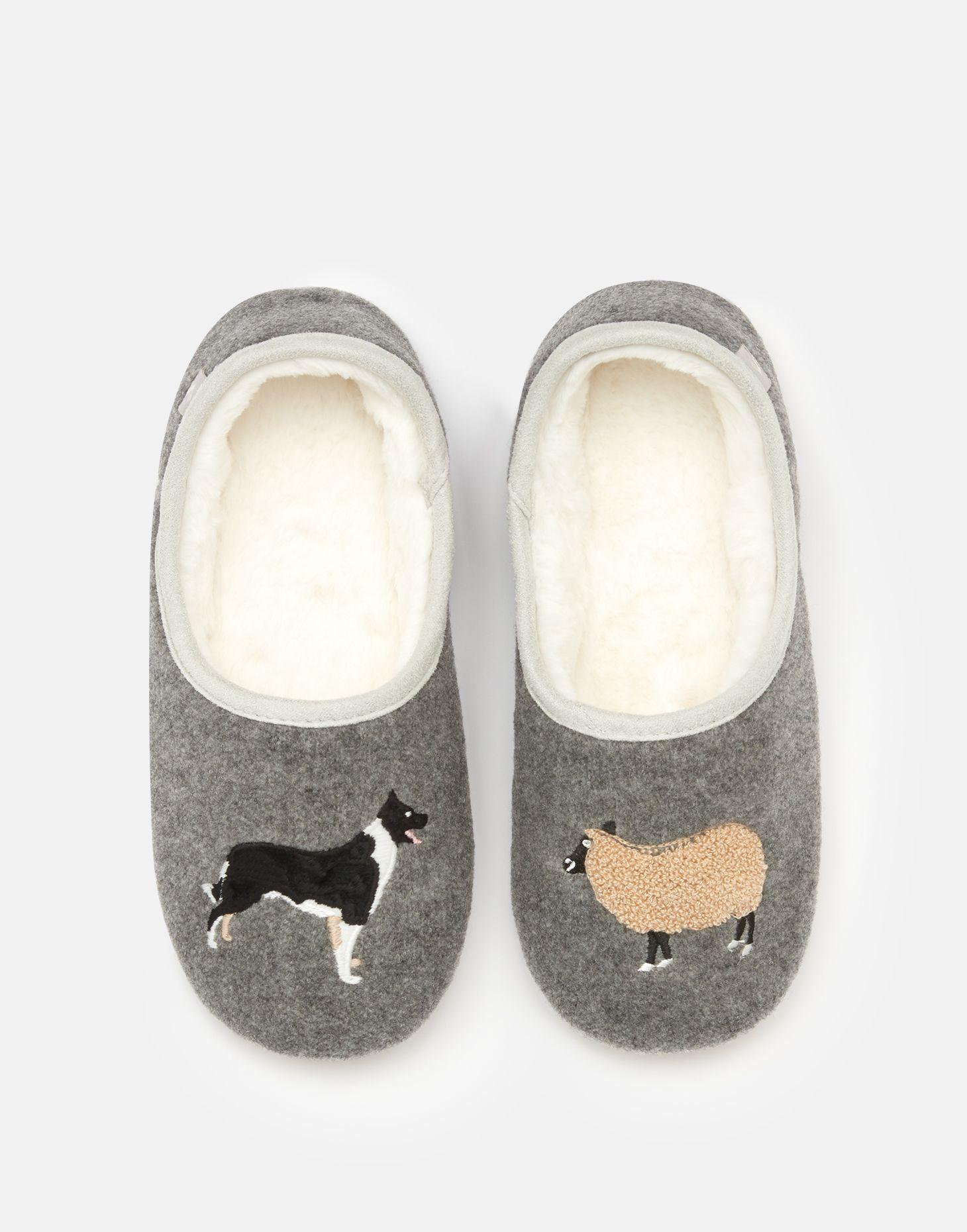 Womens Bulldog Head Print Sandals Slippers New Skid-Proof Shoes