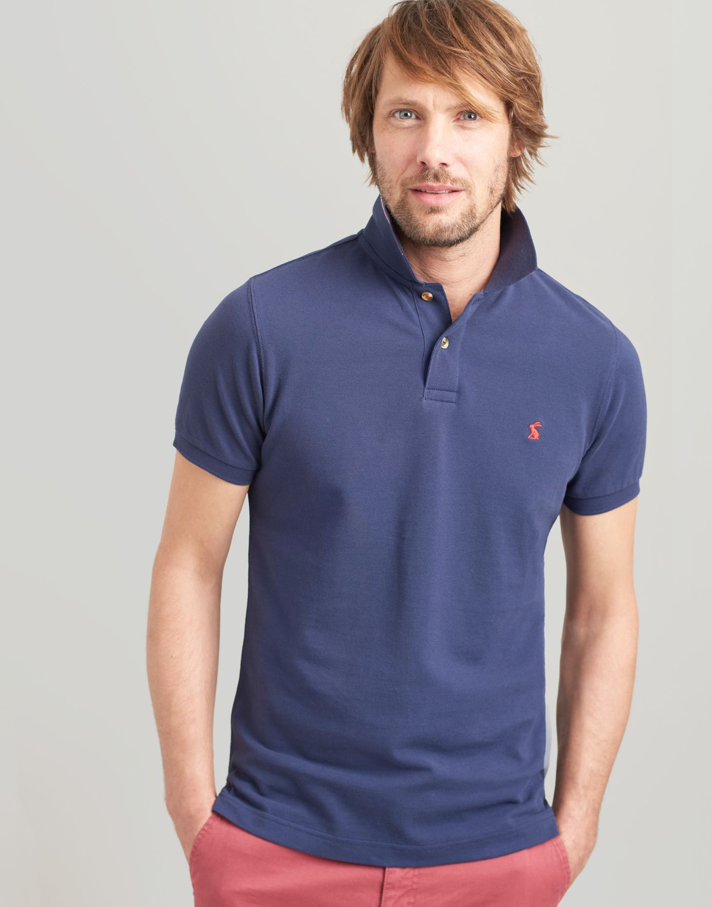 3705236eb0e Woody slim FRENCH NAVY Fit Polo | Joules UK