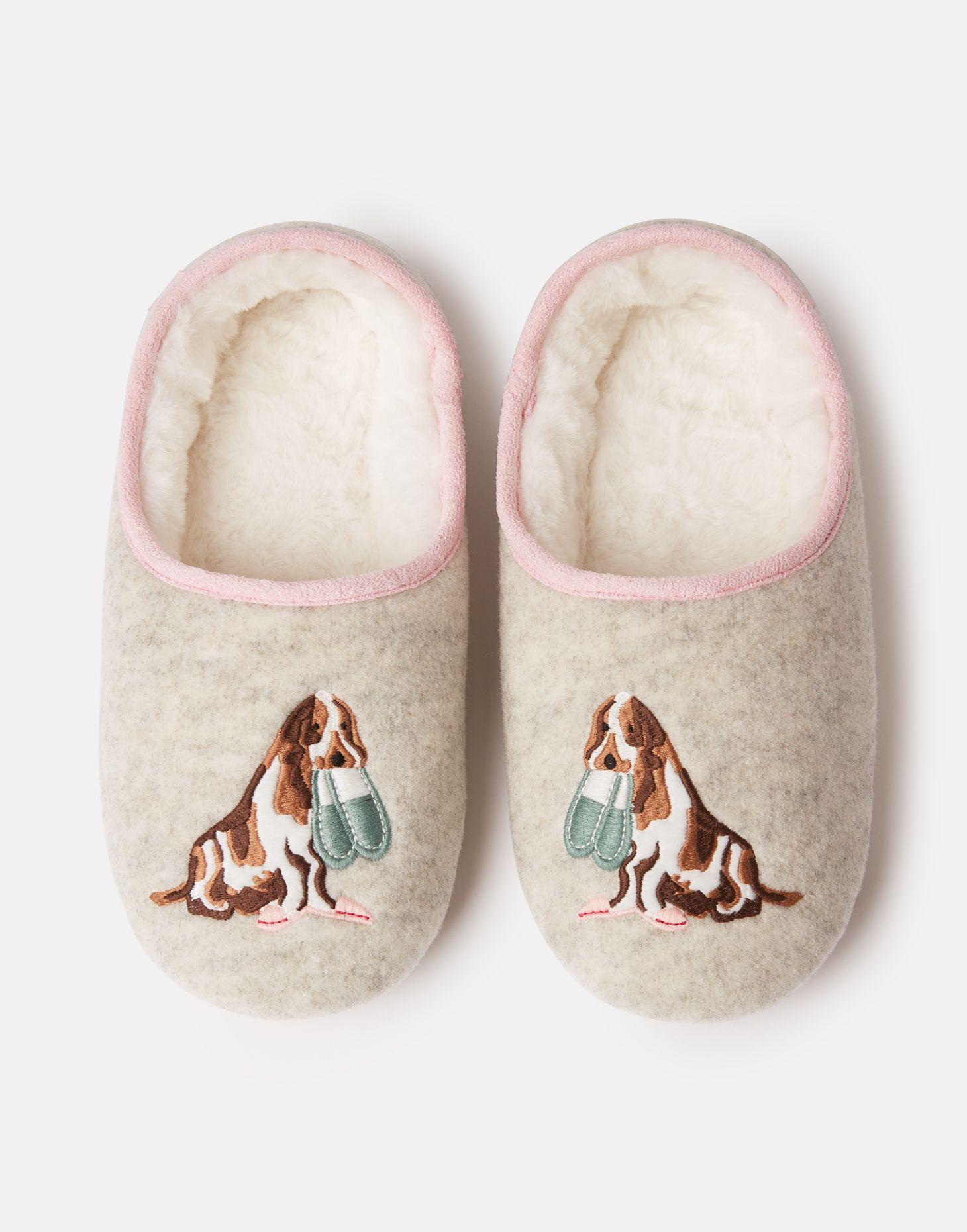 Cream Dog Joules Slippets Womens Slippers