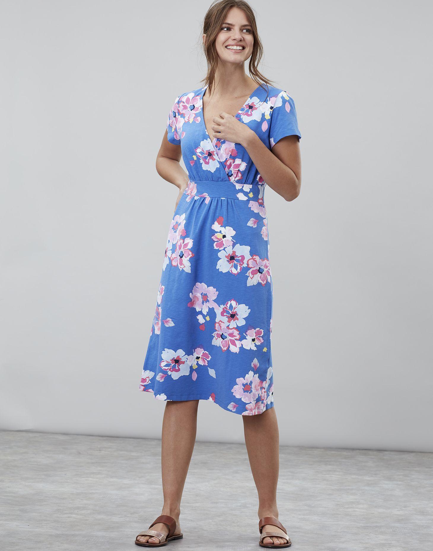 White Meadow Joules Jude Jersey Wrap Dress