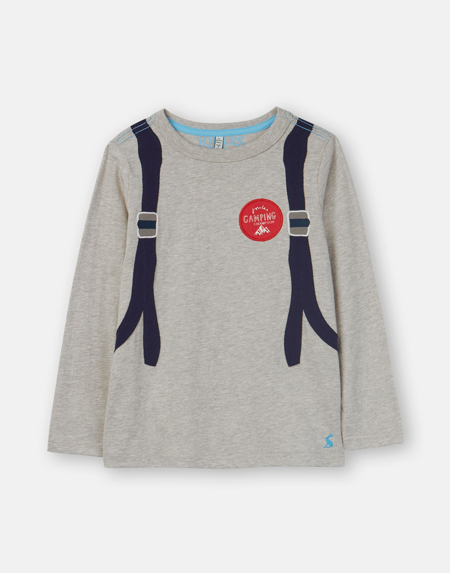 16a988d668ac Animate GREY BACKPACK Applique T-Shirt 1-6 Years   Joules US