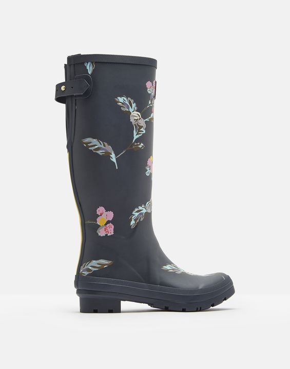 8d02be7e0952 Printed Rain Boots With Adjustable Back Gusset