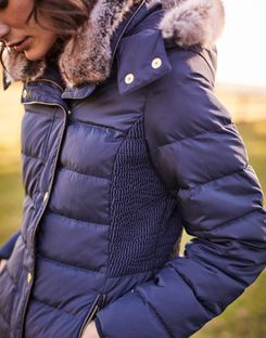 Joules US CALDECOTT Womens Padded Coat MARINE NAVY
