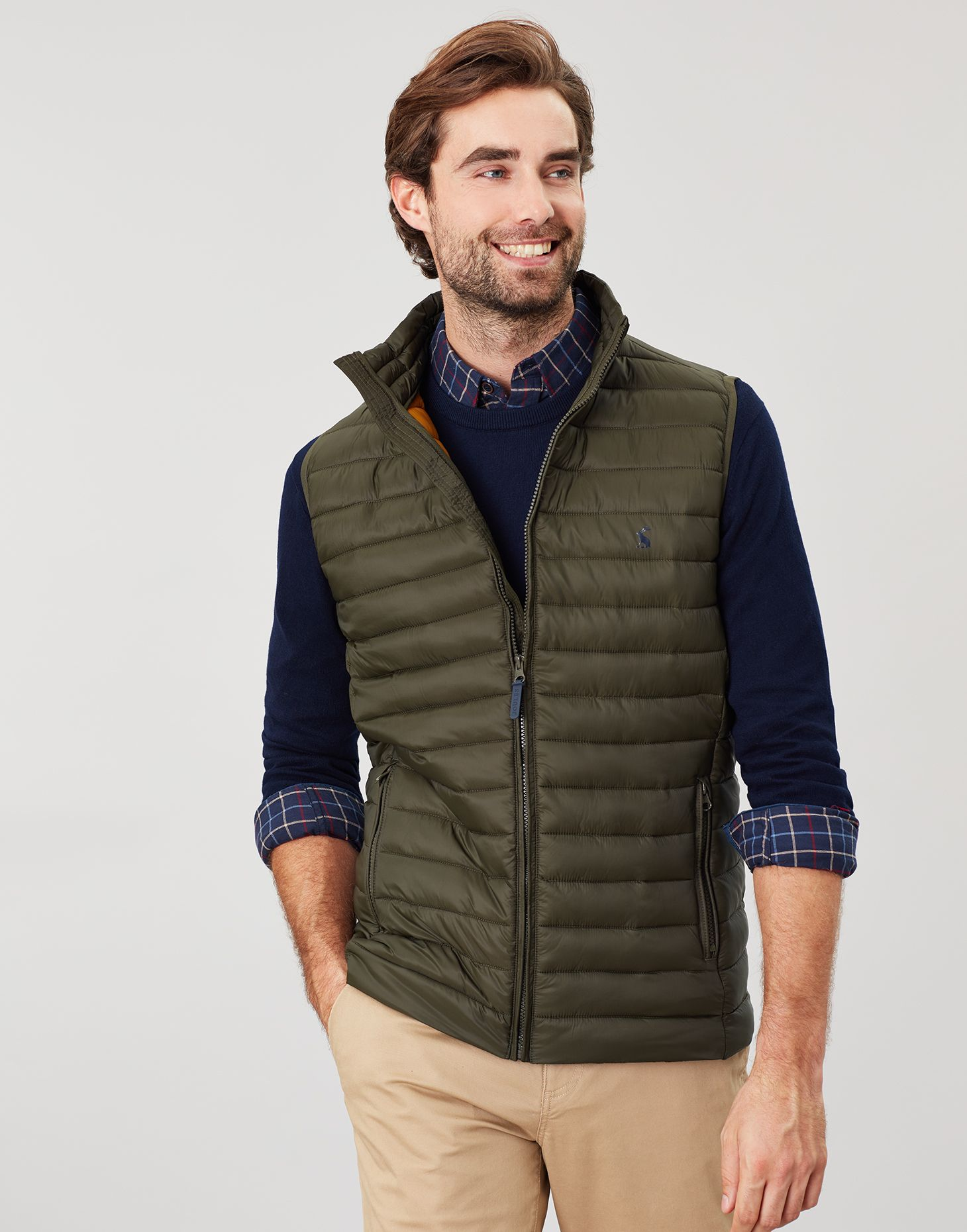 Marine Navy All Sizes Joules Go To Lightweight Barrel Quilted Mens Jacket