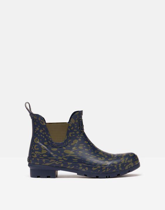 Joules Womens Short Height Printed Rain Boots - Khaki Leopard