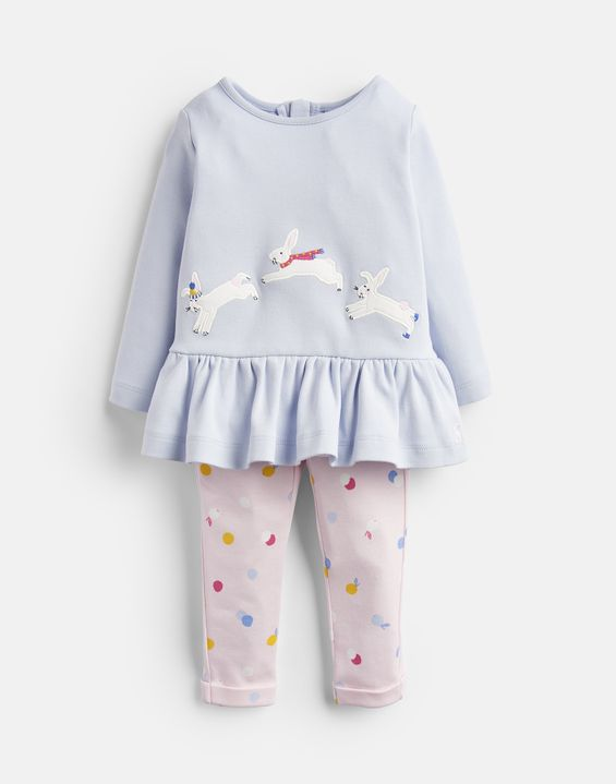 f9b7078b3c1a33 Olivia Applique Top And Trousers Set