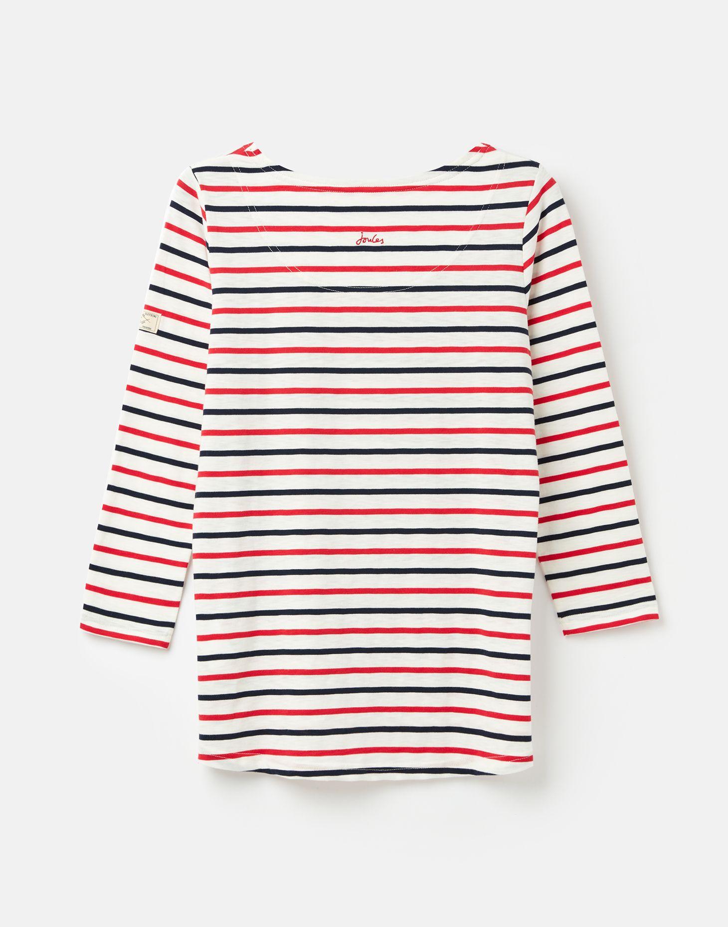 Joules Harbour Top Stripes 3//4 Sleeves  UK6 8 10 12 14 16 18 20