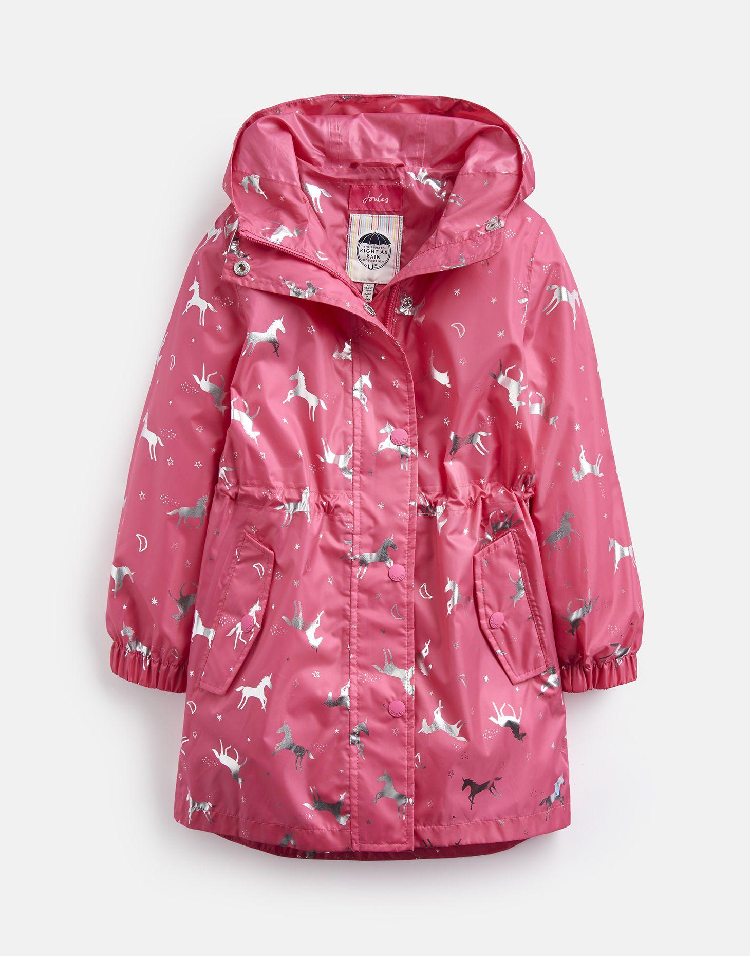 Joules Girls ODR Golightly Light Waterproof Parka Coat