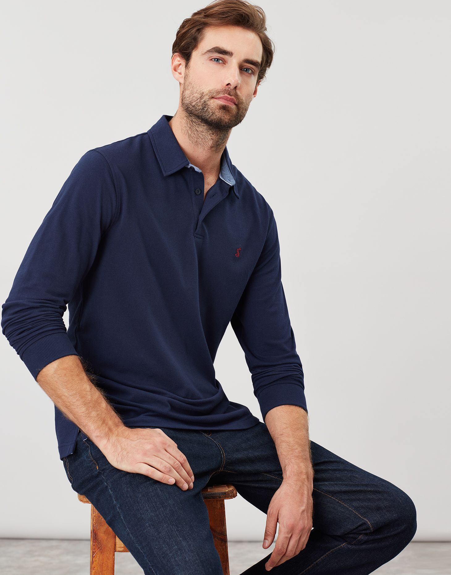 Joules Brookfield 30th Anniversary Embellished Polo French Navy