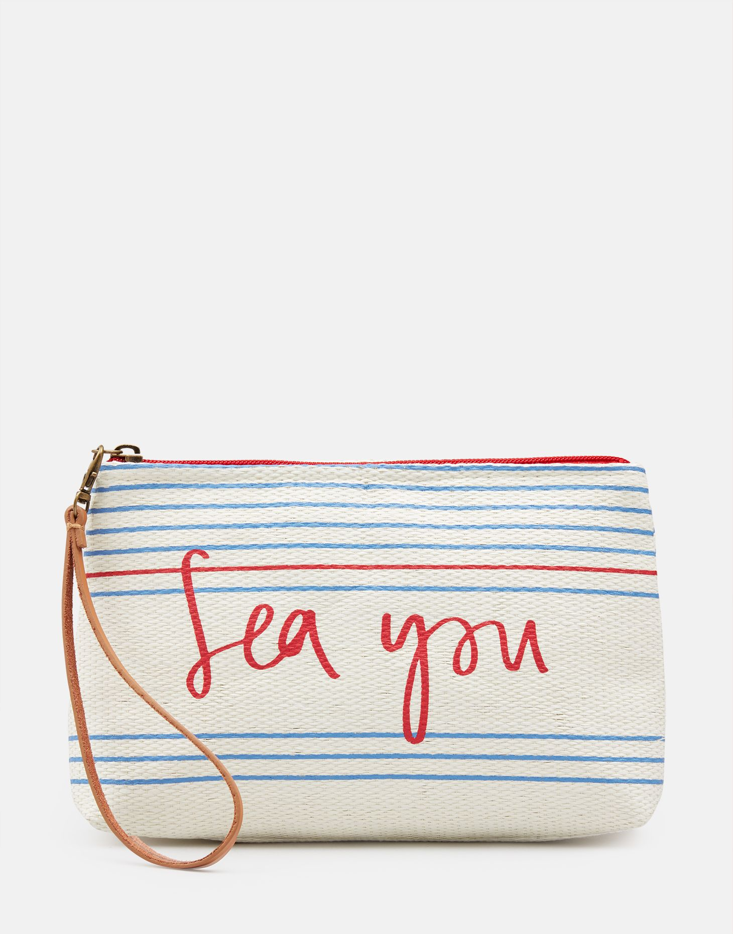 42b40eb06e Como CREAM SEA STRIPE Clutch Bag | Joules UK