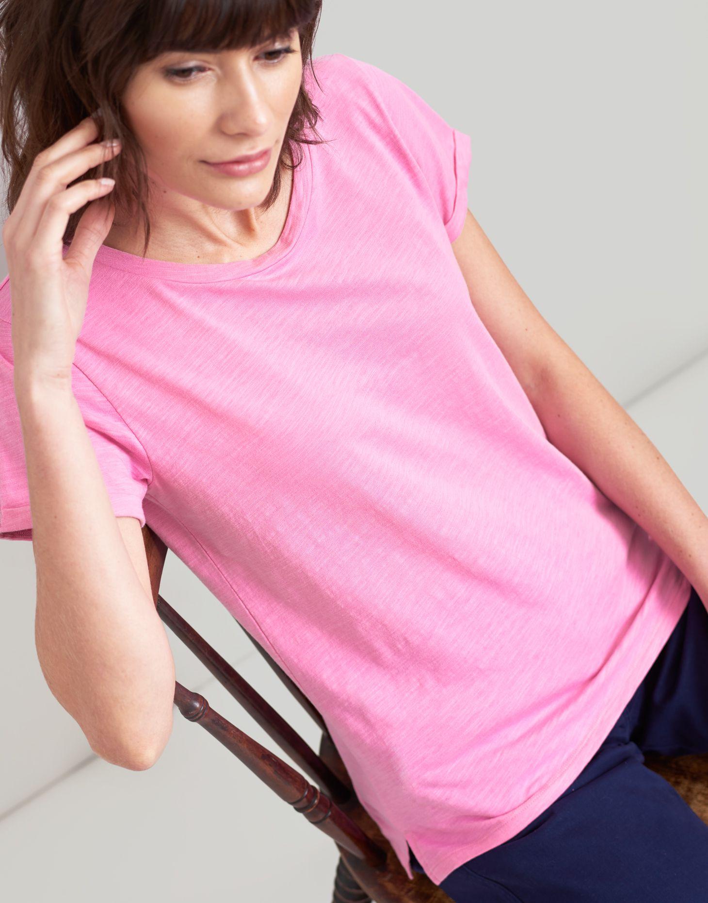 8188e853 Joules UK Nessa Womens Lightweight Jersey T-Shirt LIGHT PINK. Hover to zoom