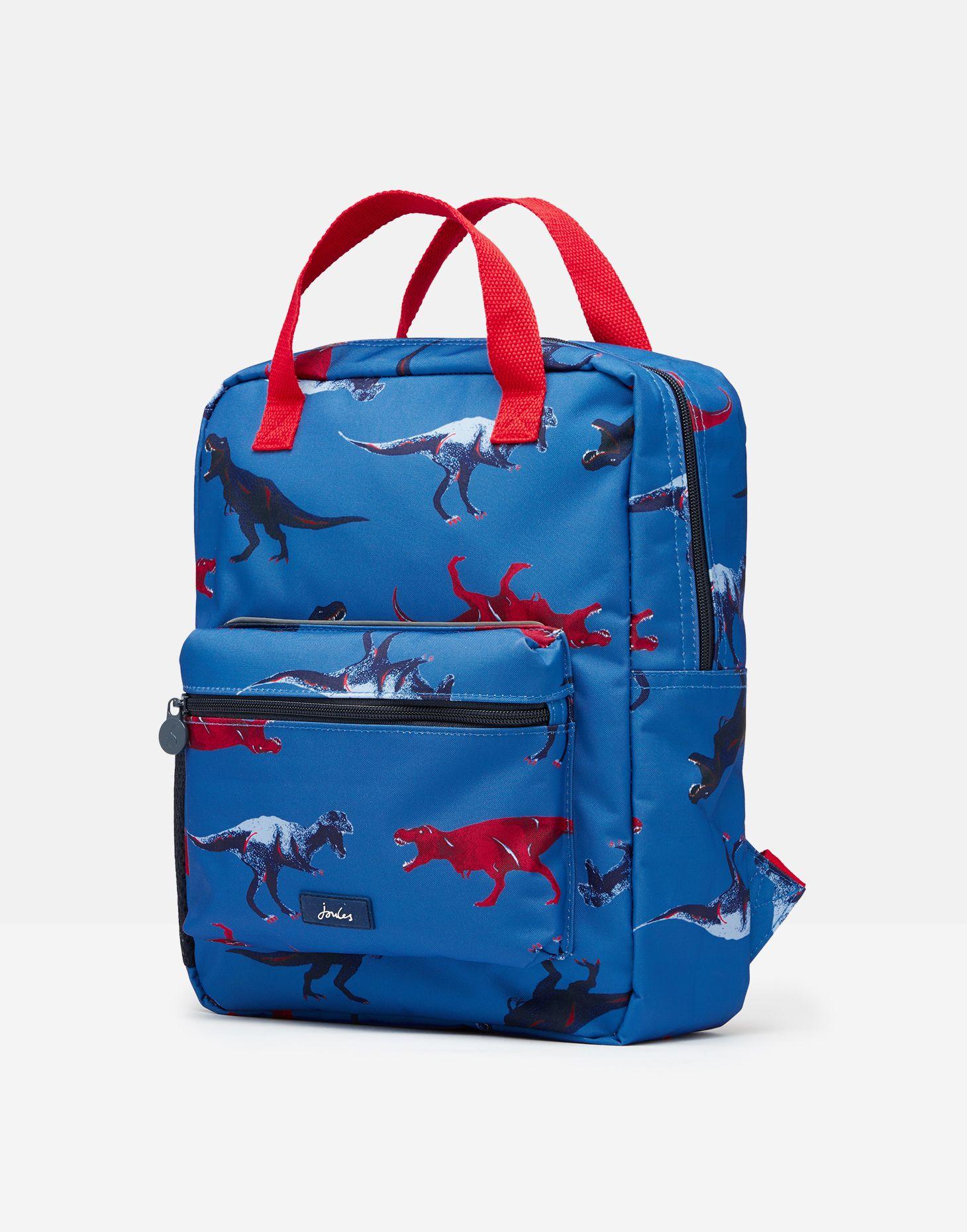 Joules Boys Easton Printed Backpack BLUE DINOSAUR