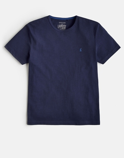 Joules UK LAUNDERED TEE Mens Plain Crew Neck T-Shirt FRENCH NAVY