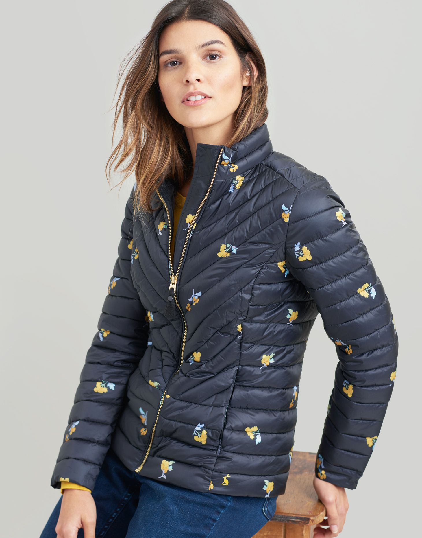 283c4d5e9 Elodie Print Chevron Quilted Jacket