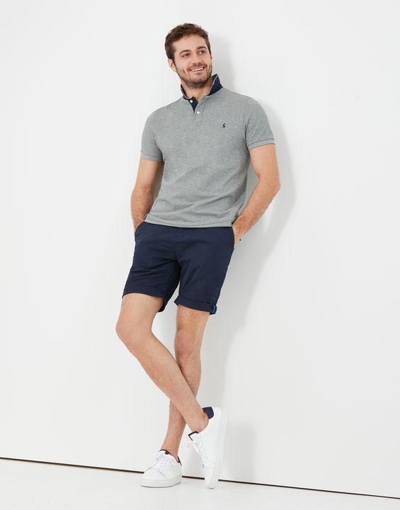 Joules Mens Woody Slim Fit Polo Shirt - Grey Marl