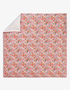 Joules UK Hollyhock Meadow Homeware Duvet Cover PINK FLORAL MULTI