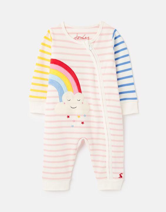 Cream Ditsy Joules Baby Girls AOP Razamataz Babygrow