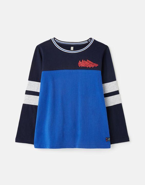 Joules Boys Renford Colourblock T-Shirt 1-12 Years - Blue Multi