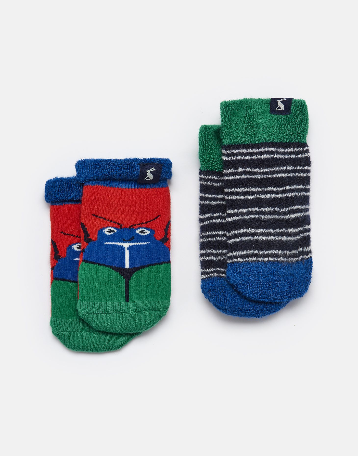 50f2d76aeedbf Two pack terry RED BUG MULTI Towelling Socks | Joules UK