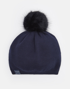 Joules UK SNOWDAY Womens Lightweight beanie with pop-a-pom FRENCH NAVY