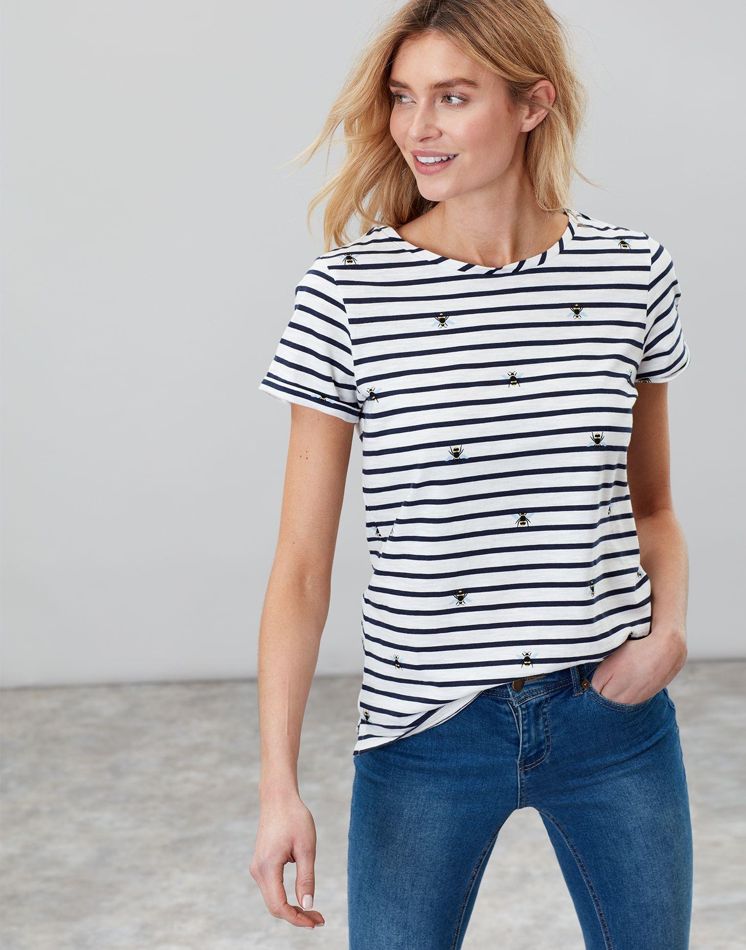 63fdec32933d2a Nessa print SUMMER BEE Lightweight Jersey T-Shirt | Joules UK