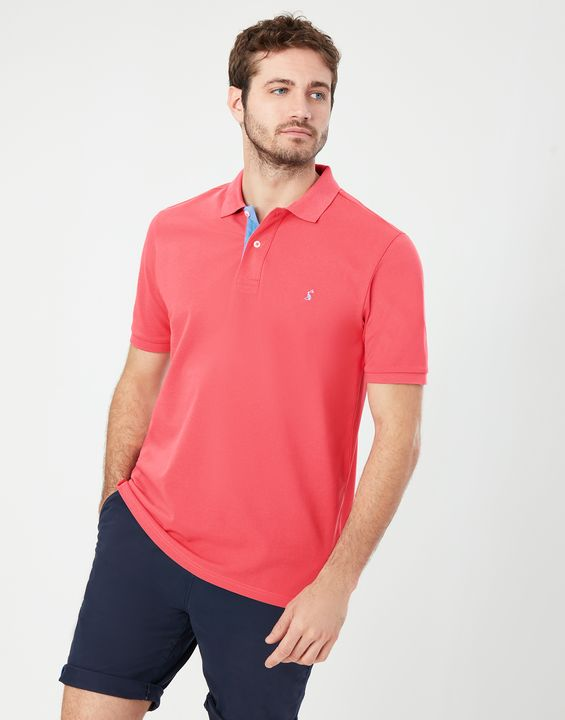 Joules Mens Woody Classic Fit Polo Shirt - Pink