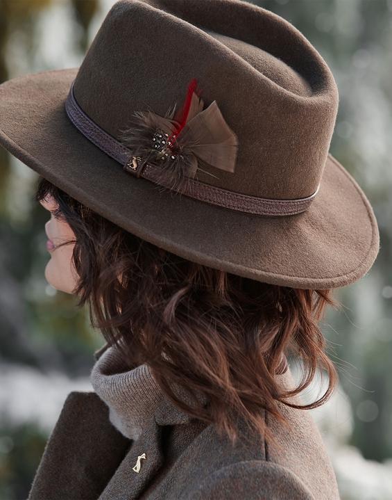 Fedora DARK BROWN Felt Hat  e3316e94a013