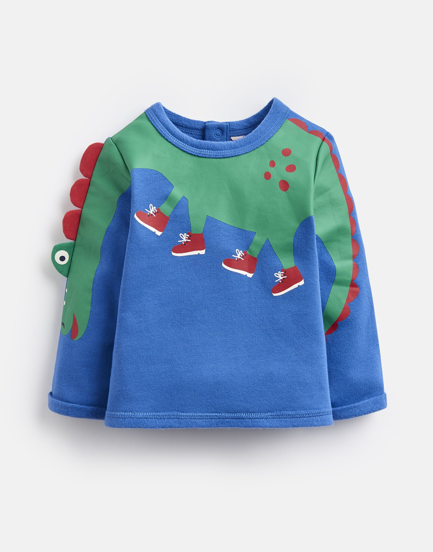 Joules Baby Boo Applique Sweater in BLUE DINO ARM