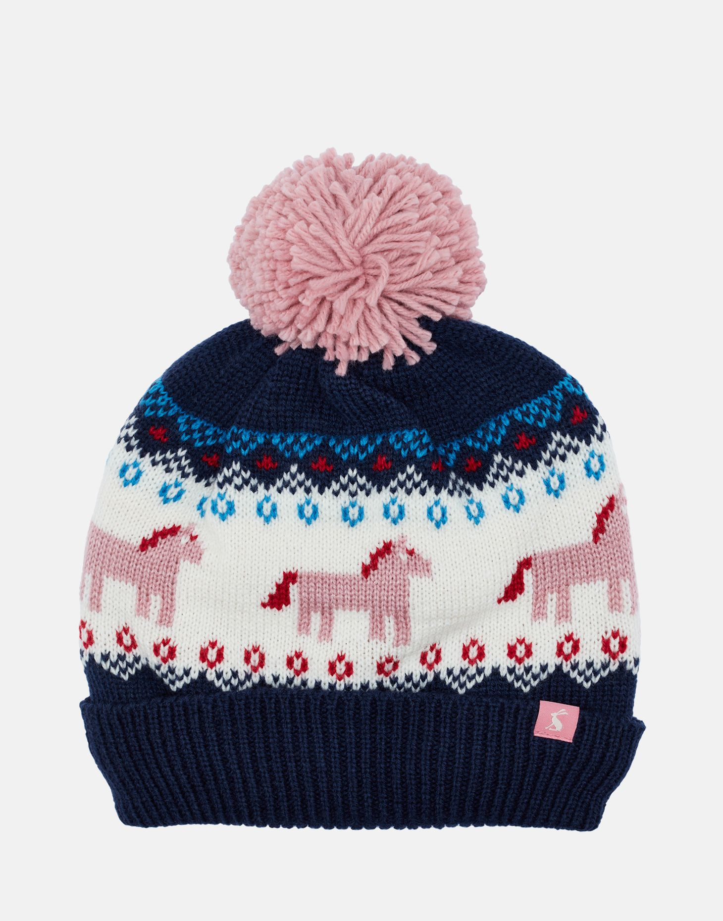 Joules Girls Fallbury e Bobble Hat in FAIRISLE
