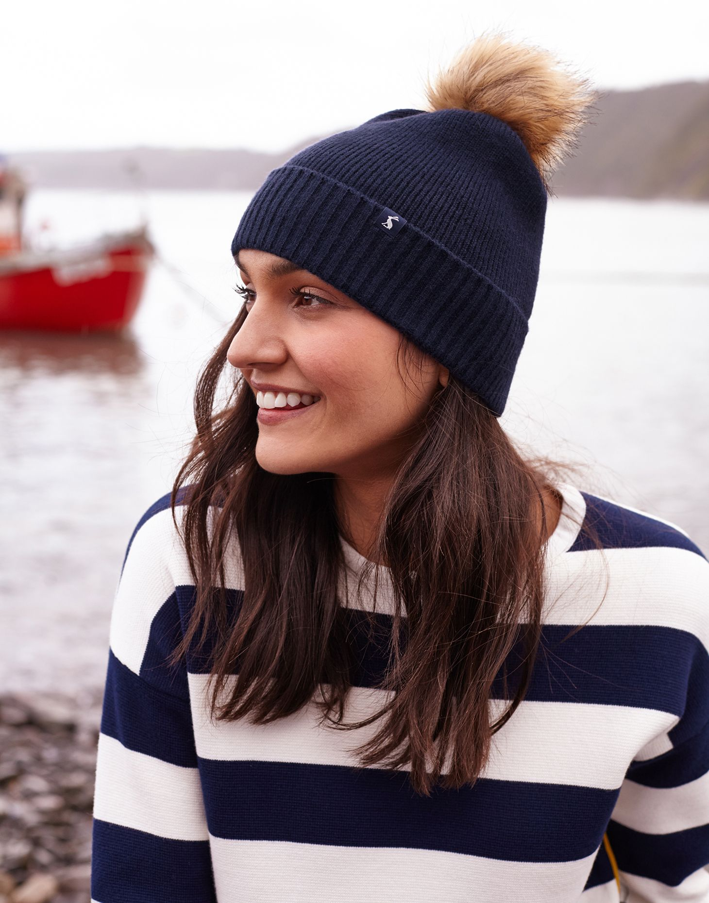 Joules Junior Bobble Hat French Navy