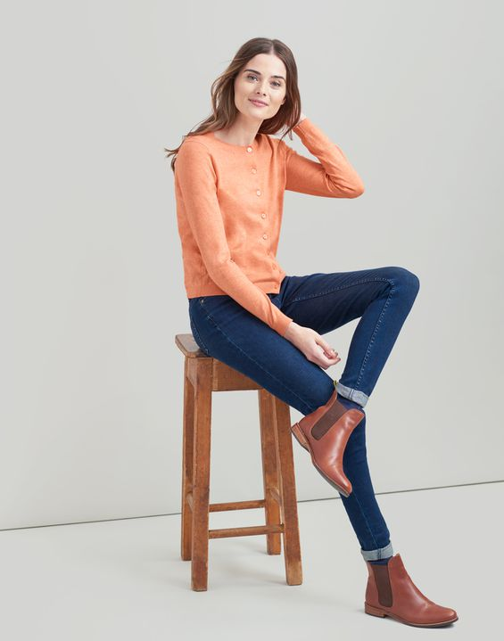 Joules UK Skye Womens Cardigan ORANGE