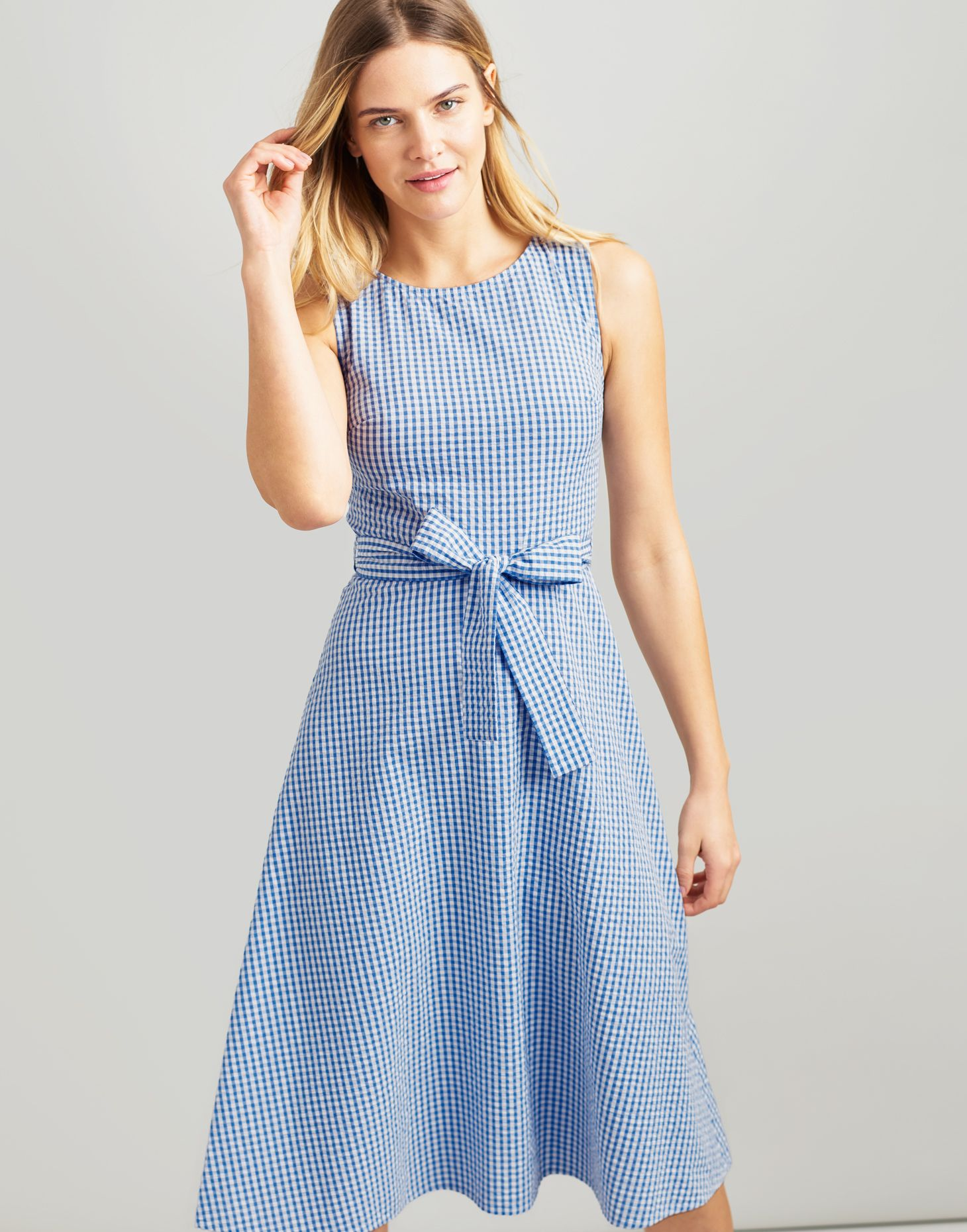 05db2f672 Joules Women Fiona Sleeveless Woven Dress With Tie Detail 4 in Size ...